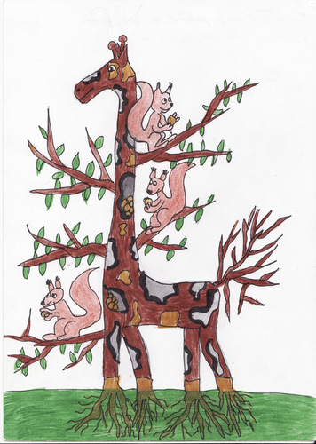 Cartoon: No trees for natural life (medium) by cristian constandache tagged free,academy,graphic,art,paula,salar,romania,student,cartoonist,boy,children,young,people,education,sketch,school,colors,culture,tv,bd,pc,natural,life,love,draw,pencil,pen,imagination,initiate,world,word,creation,tree,animal,teacher,master,woman