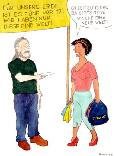 Cartoon: Neue Welt von Tschibo (medium) by Bozo tagged weltklima