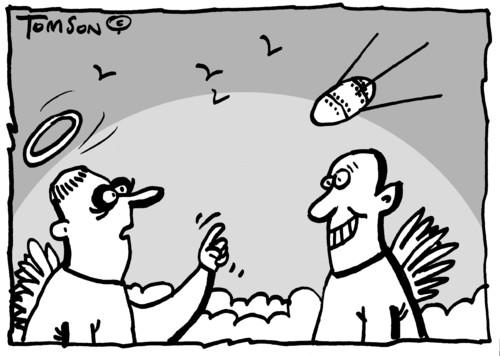 Cartoon: ... (medium) by to1mson tagged god,gott,bog,ludzie,people,menschen,himmel,niebo,sky