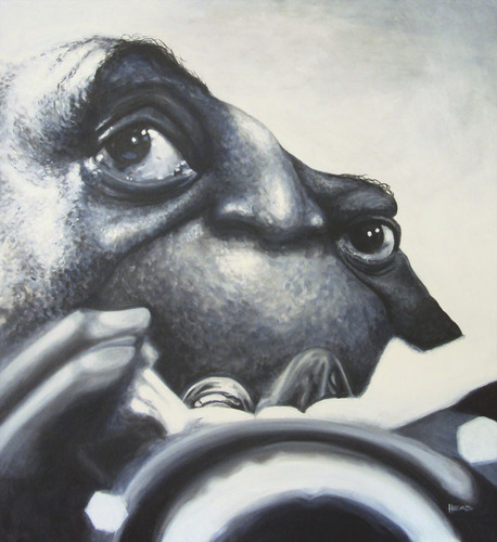 Cartoon: Caricatura Louis Armstrong (medium) by manohead tagged caricatura,caricature,manohead