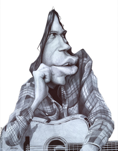 Cartoon: Neil Young (medium) by manohead tagged manohead,caricatura,neil,young