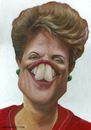 Cartoon: Dilma Rousseff (small) by manohead tagged caricatura,manohead,dilma,rousseff