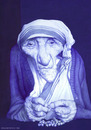 Cartoon: Madre Teresa de Calcuta (small) by manohead tagged madre,teresa,de,calcuta,manohead,caricatura,caricature,bic,ballpoint