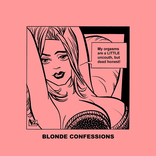 Cartoon: Blonde Confessions - Dead Honest (medium) by Age Morris tagged tags,blondebabe,agemorris,victorzilverberg,aboutloveandlife,blondeconfessions,blondebekentenissen,dumbblonde,atomstyle,orgasm,deadhonest,littleuncouth,awkward,boobs,hotbabe
