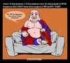 Cartoon: CouchYogi Total Happiness! (small) by MoArt Rotterdam tagged couchyogi totalhappiness advice spiritualadvice selfhelpbook 5stepprogram