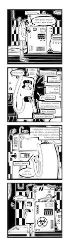 Cartoon: Ypidemi Internet Of Things (medium) by bob schroeder tagged internet,of,things,fridge,device,ai,assistent,net,arms,weaponry,comics,ypidemi