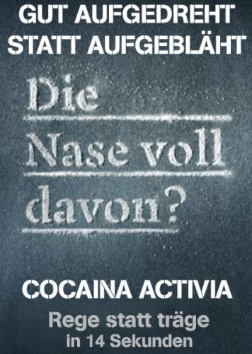 Cartoon: Activia (medium) by Theodor von Babyameise tagged werbung,activia,cocaina,bullshit