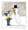 Cartoon: Winter Vegetable (small) by Huse Fack tagged winter snowman vegetable rabbit carrot