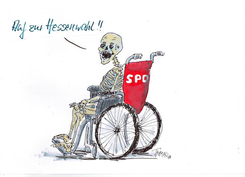 Cartoon: Hessenwahl (medium) by Skowronek tagged spd,hessen,wahlen