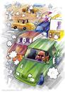 Cartoon: Traffic (small) by Jesse Ribeiro tagged comic cartoon traffic demon angels