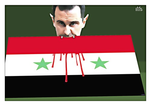 Cartoon: Vampir (medium) by Makhmud Eshonkulov tagged assad,syria,vampir