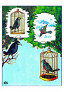 Cartoon: Cages (small) by Makhmud Eshonkulov tagged cages,birds,love
