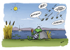 Cartoon: Gelati Gelati (small) by subbird tagged wespen,eis,frosch,froschschenkel