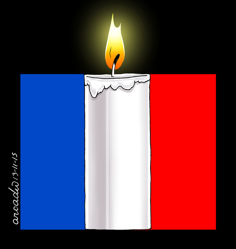 Cartoon: A cartoon of silence. (medium) by Cartoonarcadio tagged france,paris,war,terrorism,muerte,rehenes