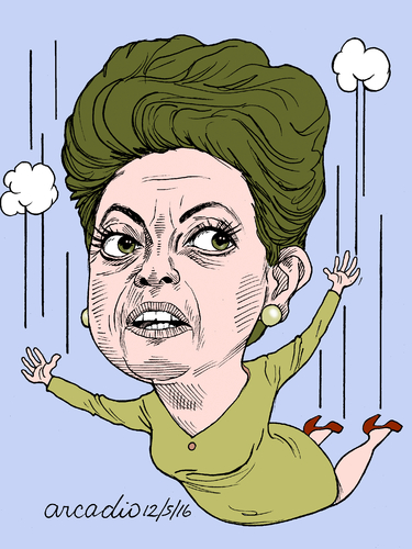 Cartoon: Dilma Rouseff (medium) by Cartoonarcadio tagged dilma,brazil,corruption,south,america,justice