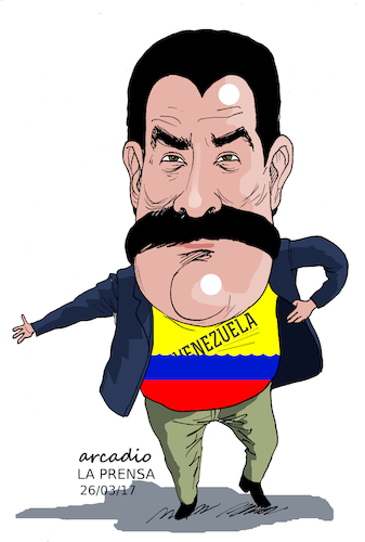 Cartoon: Maduro and his Venezuela. (medium) by Cartoonarcadio tagged maduro,venezuela,socialism,south,america,latin,oas
