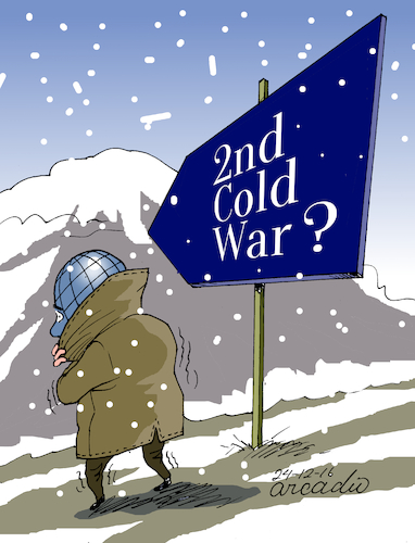 Cartoon: Second Cold War? (medium) by Cartoonarcadio tagged cold,war,wapons,conflicts,crisis