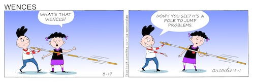 Cartoon: Wences Comic Strip (medium) by Cartoonarcadio tagged wences,comic,strip,humor