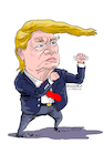 Cartoon: Donald Trump US President. (small) by Cartoonarcadio tagged trump,kim,us,president