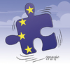 Cartoon: European community is in crisis. (small) by Cartoonarcadio tagged euro,europa,crisis,economy,finances,union