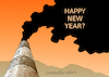 Cartoon: Happy New Year? (small) by Cartoonarcadio tagged pollution,environment,climate,change