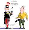 Cartoon: Loosen the belt one point. (small) by Cartoonarcadio tagged taxes,economy,money,us,government,washington