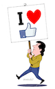 Cartoon: Love social networks. (small) by Cartoonarcadio tagged internet,social,networks,facebook,twitter,youtube