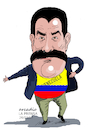 Cartoon: Maduro and his Venezuela. (small) by Cartoonarcadio tagged maduro,venezuela,socialism,south,america,latin,oas