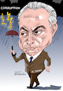 Cartoon: Michel Temer- Brazil (small) by Cartoonarcadio tagged temer,brazil,president,south,america,corruption
