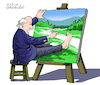 Cartoon: Self Painting. (small) by Cartoonarcadio tagged humor cartoon drawing
