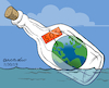 Cartoon: SOS Planet Earth (small) by Cartoonarcadio tagged planet earth global warming climate change