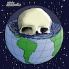 Cartoon: The dying planet. (small) by Cartoonarcadio tagged earth,planet,pollution,comsumption,global,warming