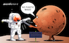 Cartoon: The martians are prevented. (small) by Cartoonarcadio tagged earth mars pollution global warming