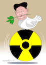 Cartoon: The peace of Kim Jong-Un. (small) by Cartoonarcadio tagged asia,kim,jong,un,north,korea,south