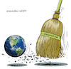 Cartoon: The planet earth...who care? (small) by Cartoonarcadio tagged planet,earth,global,warming,climate,change