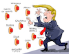 Cartoon: Too many war buttons-President. (small) by Cartoonarcadio tagged war,trade,trump,europe,china