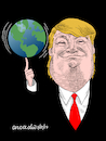 Cartoon: Trump and his world. (small) by Cartoonarcadio tagged trump,world,president,usa,government,populism