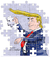 Cartoon: Trump the puzzle. (small) by Cartoonarcadio tagged trump,white,house,usa,politician