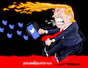 Cartoon: Twitter with fire and fury. (small) by Cartoonarcadio tagged trump,twitter,iran,us,president