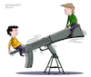 Cartoon: Weapons game. (small) by Cartoonarcadio tagged weapons society violence