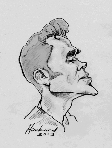 Cartoon: Morrissey (medium) by Harbord tagged morrissey,caricature,sketch