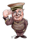 Cartoon: Benny Hill (small) by Harbord tagged benny,hill,british,comedy,silly,doorman