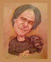 Cartoon: David Matychuk and Ozzy (small) by Harbord tagged david,matychuk,musician,songwriter,dog,lover,ozzy,no,fun
