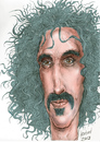 Cartoon: Frank Zappa (small) by Harbord tagged frank,zappa,guitarist,musician,freak