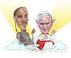 Cartoon: Holy Smokers! (small) by Harbord tagged snoop,dogg,pope,benedict,smoking