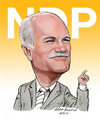 Cartoon: Jack Layton caricature (small) by Harbord tagged jack,layton,ndp,caricature