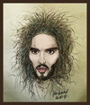 Cartoon: Russell Brand (small) by Harbord tagged russell,brand,british,comedian