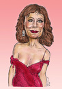 Cartoon: Susan Sarandon caricature (small) by Harbord tagged susan,sarandon,sexy,caricature