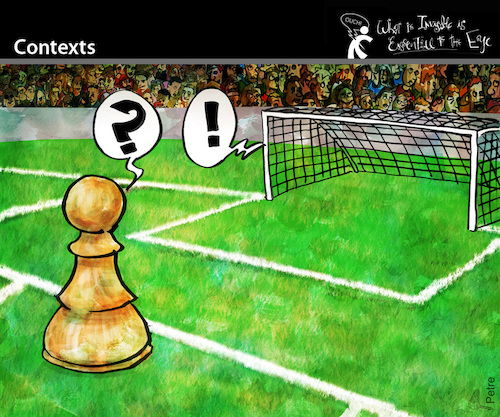 Cartoon: Contexts (medium) by PETRE tagged context,field,futbol,chess