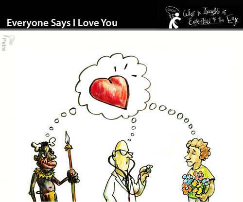 Cartoon: Everyone Says I Love Your (medium) by PETRE tagged people,toughts